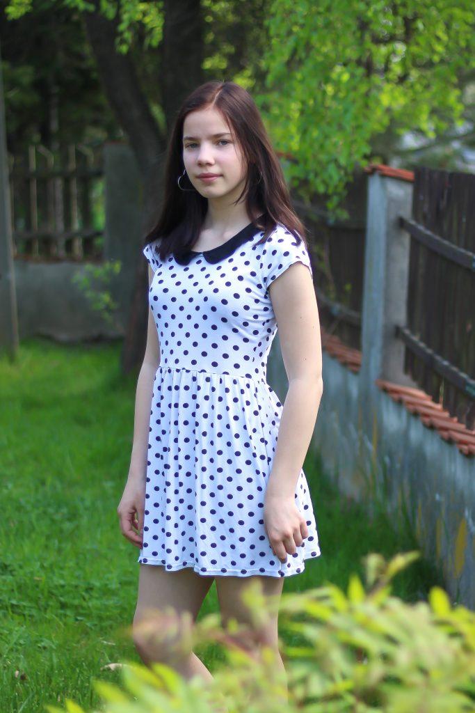 sukienka wgroszki zlumpeksu